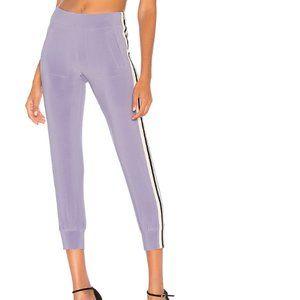 Norma Kamali Violet Side Stripe Pant w/pockets M